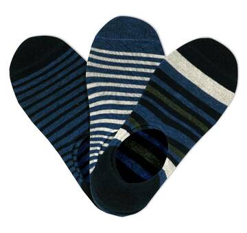 Men's 3 Pack Non-Terry No Show Socks