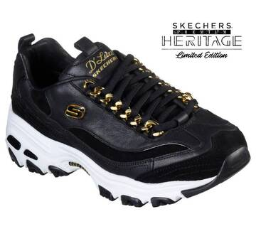 Women's Skechers Premium Heritage: D'Lites - Golden Idea