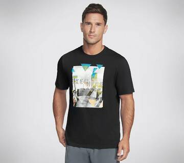 Men's Skechers Apparel Pier Geo Photo Crew Tee Shirt